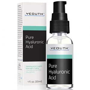 Sérum pour le visage à l'acide hyaluronique de YEOUTH – Formule pure anti-âge ! – Hydratant naturel