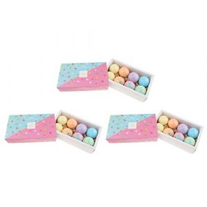 sharprepublic 24pcs Boules de Bain Effervescentes – Kit de Bombes de Bain Moussant Parfumée