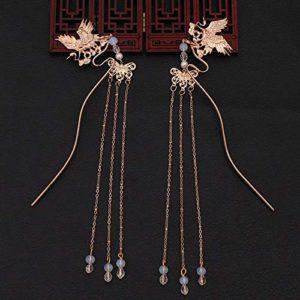 SHUHUAN Accessoires de Cheveux de Pince à Cheveux de Cheveux de bâton de Cheveux de Couleur d'or/argenté
