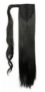 S-noilite® parrucchino parrucca Extension coda di cavallo di estensione dei capelli coda di cavallo estensione capelli vari colori Nero naturale