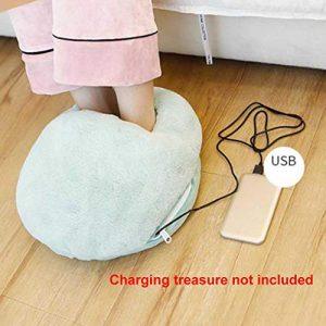 Soldmore7 Chauffe-Pieds Chauffant avec Batterie USB, Chauffage électrique pour Grandes Poches de Rangement d'hiver, N° 0, Bleu, Free Size