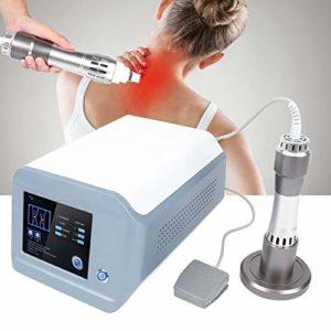 Soulager la Douleur Massager, Shockwave Extracorporel Multifonctionnel avec ED Musculaire Facial Douleur Corporelle Massager Treament Massage Pistolet Muscle Relax(UE)