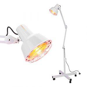 SOULONG Lampe Chauffante Infrarouge 275W 220V, Lampe Chauffante Infrarouge Pied Soulagement Douleur Musculaire, Spondylose Cervicale, Sciatique, EU Prise