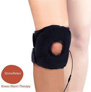 Stone Relax Genouillère thermique chauffée – Traitement de la douleur avec chaleur et compression améliore la circulation sanguine attelle contre les douleurs musculaires et articulaires – 5143