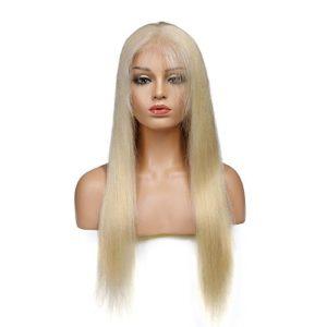 Sun Goddess Full Lace Cheveux Perruques De Cheveux Humains #613 Droit Couleur Blonde Cheveux Remy Brésilien Naturelles Perruques,A,20Cm