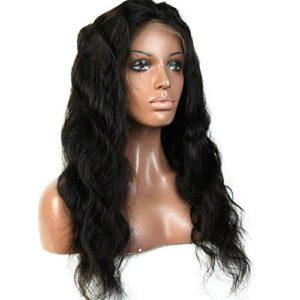 Sun Goddess Perruque Lace Front Ondulé 250 12-24 Pouce Densité Cheveux Perruque Cheveux Naturels,Partie Centrale 24Pouces Naturel,