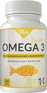 Super Oméga-3 : huile de poisson sauvage concentrée EPAX (3 mois d'utilisation, fabriqué en France).