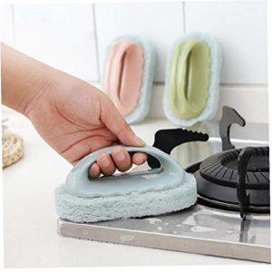 TOSSPER 1 PCS éponge Brosse Forte décontamination carrelage Propre Mur Brosse de Toilette Salle de Bain Cuisine Propre Serviette Tissu Plat Couleur Outils aléatoires