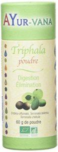 Triphala bio Ayur-vana | Transit intestinal, laxatif naturel, perte de poids, digestion | Ayur-vana, plantes ayurvédiques et ayurvéda