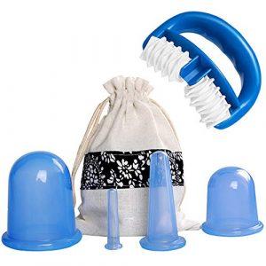 Ventouse Anti-Cellulite Kit – SiFar 6PCS Minceur Roller Silicone Massage Cups, Anti-âge, Réducteur de Rides, Soulagement de la Douleur Pour Fesse, Cuisse, Jambe, Ventre, Bras