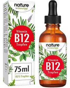 Vitamine B12 gouttes 75 ml 1000 μg – 1875 goutte végétalienne pour le prix d'introduction – Deux formes actives bio (méthyle et adenosylcobalamin) – Certifié en Allemagne