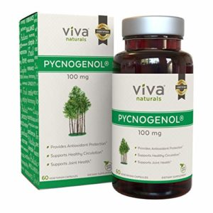 Viva Naturals Pycnogenol, 100mg, 60 Veggie Capsules – Proprietary French Pine Bark Extract