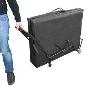Vivezen ® Chariot à roulettes pliable et transportable pour table de massage – Norme CE