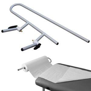 Vivezen ® Porte rouleau de draps d'examen en aluminium pour table de massage – Norme CE