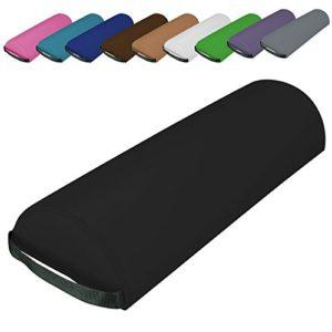 Vivezen ® Traversin, coussin demi-rond 66 cm x 22 cm x 12 cm pour table de massage – 10 coloris – Norme CE – Noir
