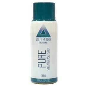 Wheatgrass Shot de Vitamin Packed Pure. Paquet de 7 coups de 30 ml. Renforcez votre système immunitaire naturellement. Soutient un régime alcalin. Jus de désintoxication de Wild Power Wheatgrass