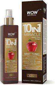 WOW 10 1 Miracle du vinaigre de cidre sans paraben et Silicones Mist Sulphate Tonic 200 ml (emballage peut varier)