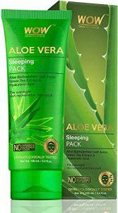 WOW peau science Aloe Vera avec extrait de thé vert et Hyaluronique Paquet Dormant acide 100 mL (emballage peut varier)