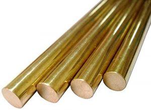 Wzqwzj Brass Rods Bar, Longueur 500 mm, 7 mm à 10 mm Diamètres,10mm