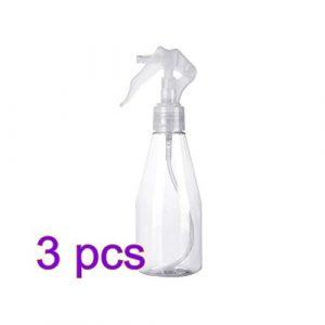 Xuxuou 3PCS Vaporisateur Bouteille en Plastique Arrosoir Peut Super Fine Brume Vaporisateur Transparent Flacon Pulvérisateur à Pression 200 ml