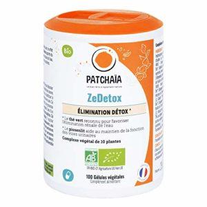 ZeDetox • BIO • Détox • Formule complète 10 plantes • Foie • Reins • Système digestif • Polyphénols EGCG • 100 Gélules Végétales Vcaps • Fabriqué en france • Patchaïa
