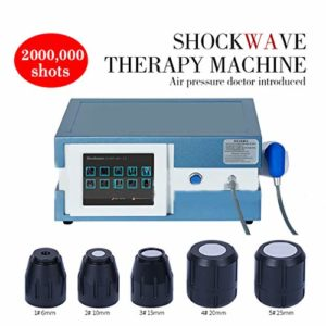 ZZYYZZ Machine de thérapie par Ondes de Choc, Portable extracorporel de Machine d'onde de Choc d'ED avec 5 émetteur pour Le Massage Profond de soulagement de la Douleur