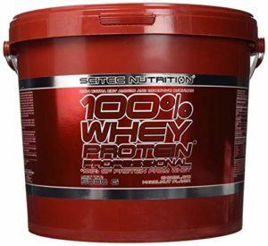 100% WHEY Professional 5 kg Scitec Nutrition chocolat noisette