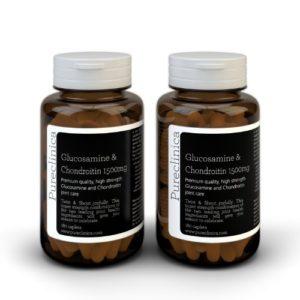 1500mg Glucosamine HLC et Chondroïtine x 360 comprimés (2 flacons de 180 comprimés chacun – 6 mois approvisionnement)