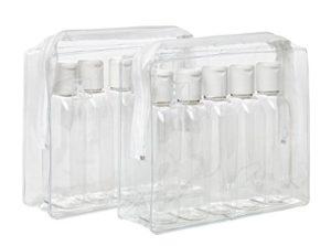 2 x plastique Air bouteilles de voyage 100 ml 5/Pk-Trousse de toilette-CAS-Lot de 10