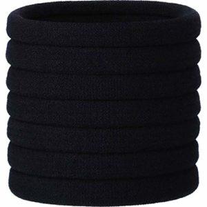 20 Pièces Cravates pour Cheveux Élastiques Capillaires pour Grosse Poils Lourds et Bouclés (Noir)