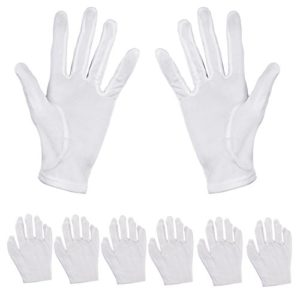 Aboat Lot de 6paires de gants hydratants Coton Blanc