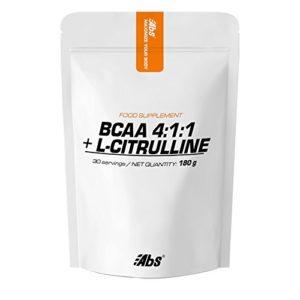 Abs – BCAA 4:1:1: + L-CITRULLINE | Formule innovatrice pour booster les performances sportives | 30 portions/poudre 180 g | Fabriqué en FRANCE | Qualité certifiée par certificat d'analyse