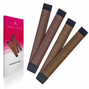 Accessoire à Chignon French Twist Cheveux Attachés Wrap Snap de K-Beauty (1 Marron, 1 Marron clair)
