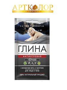 ArtColor Cosmetik Black Clay Avec extrait de menthe et de celandine, 60 grammes (visage et corps)
