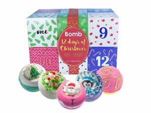 Bomb Cosmetics douze jours de Noël de bain Blaster Calendrier de l'Avent Cadeau Lot, 160g, Lot de 12