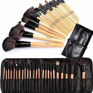 Cadrim Pinceaux Maquillage Cosmétique Professionnel 24pcs Set/Kit Cosmétique Brush Beauté Maquillage Brosse Makeup Brushes Cosmétique Fondation avec Sac