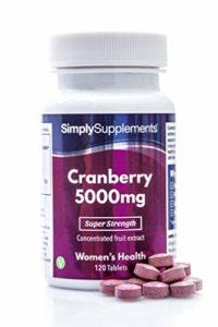 Canneberge (Cranberry) 5000mg 120 Comprimés, Prévient les Infections Urinaires, Source Naturelle de Vitamine C, Fabriqué au Royaume-Uni