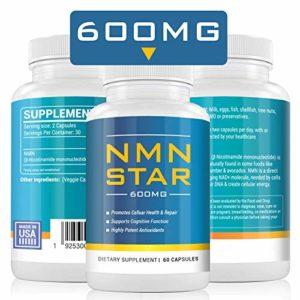 Capsules NMN ultra haute pureté, 600 mg par portion, augmentez les niveaux de NAD + pour la réparation cellulaire, l'énergie et l'anti-vieillissement, mononucléotide nicotinamide, 60 capsules