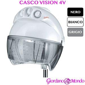 Casque Cheveux Coiffeur Blanc Noir ou gris cloche avec trous Vision 4V Ceriotti ameublement