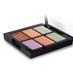 Correcteur De Couleur 6 Rawdah Beauté Make-Up 6 Couleurs Contour Visage Crème Maquillage Concealer Palette Concealer Anti Cernes Anti-Age (A)