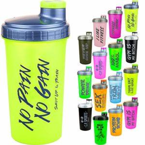 C.P. Sports Shaker de protéines avec passoire amovible et fermeture à visser 700ml