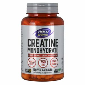 Creatine monohydrate 750 mg – 120 gelules – Now foods