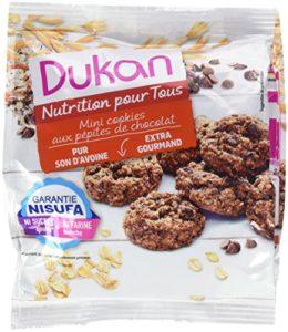 Dukan Mini Cookies de Son d'Avoine aux Pépites de Chocolat 100 g – Lot de 6