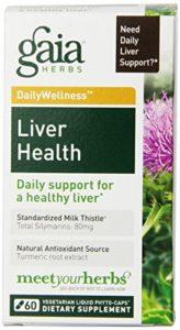 Gaia Herbes Santé le foie liquide Phyto Capsules, 60Graf Gaia Herbs Health Liquid Phyto Capsules de Liverpool, 60Count