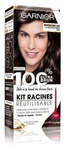 Garnier – 100% Ultra Brun – Kit Racines Réutilisable Châtain – Retouche Châtain Foncé 3.0