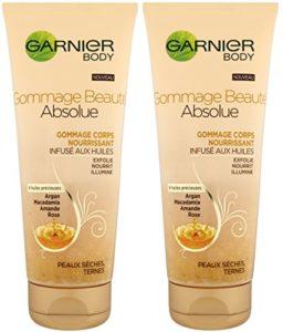 Garnier – Beauté Absolue – Gommage Corps – Nourrissant Infusé aux Huile – Lot de 2
