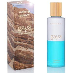 Gaya Cosmetics Yeux Démaquillant Végan Waterproof Nettoyant – Gamme Soin Visage, dans une bouteille de 145ml