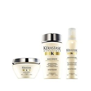Kérastase Densifique Bain DENSITE (250Ml) Masque DENSITE (200ml) et mousse Densimorphose (150ml)