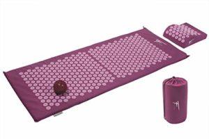 Kit d'acupression XL Fitem – Tapis d'Acupression + Coussin + Boule de Massage – Soulage douleurs Dos et Cou – Sciatique – Massage dos – Relaxation Musculaire – Acupuncture – Récupération post-sport (Violet-Fushia)