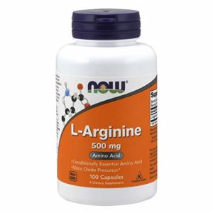 L-arginine 500 mg – 100 gelules – Now foods